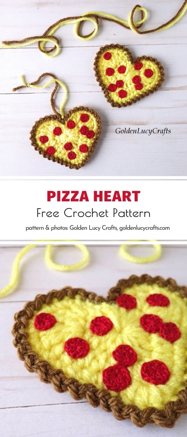 Pizza Heart Applique