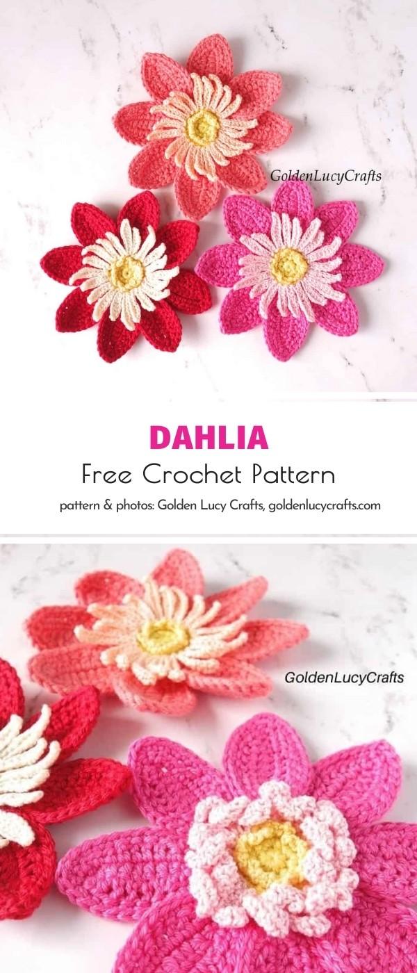 Dahlia applique