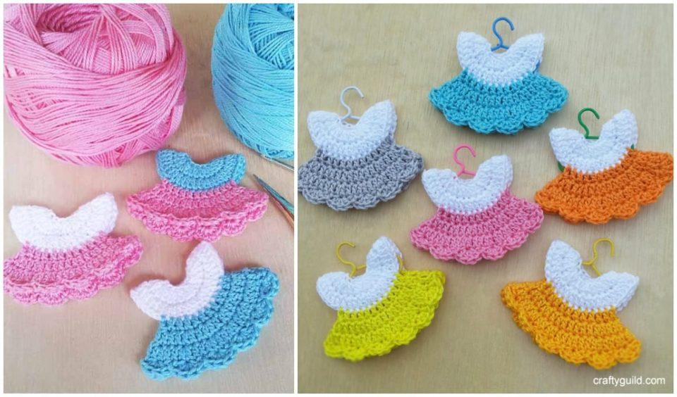 Mini Dresses Free Crochet Pattern