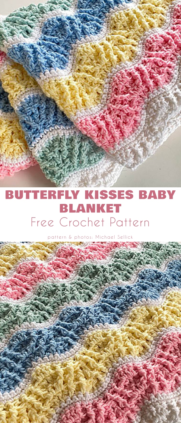 Butterfly Kisses Baby Blanket