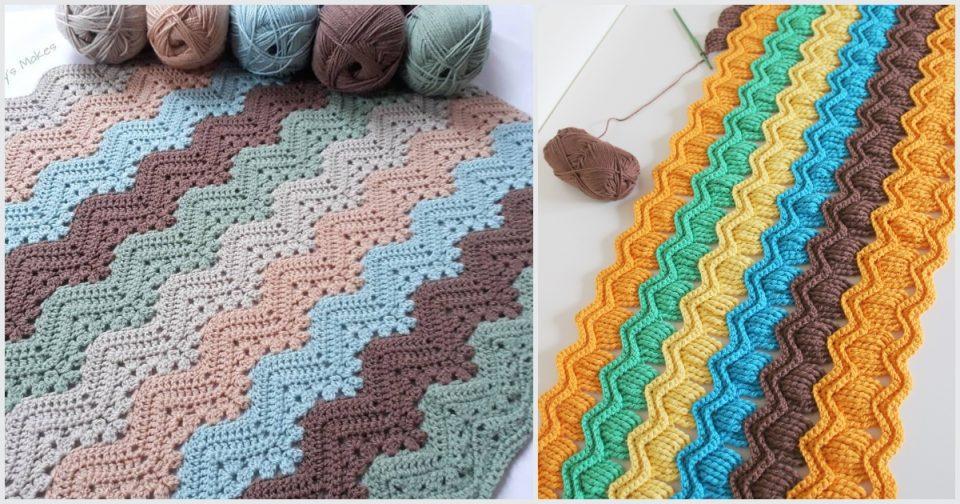 Elegant Ripple Baby Blanket