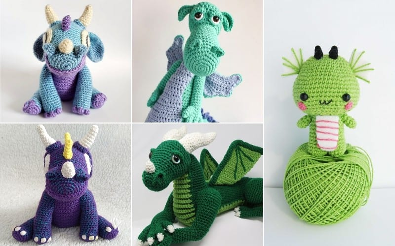 Friendly Amigurumi Dragons Free Crochet Patterns