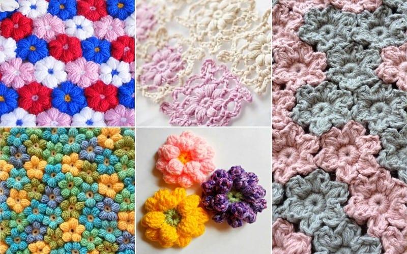 Puff Stitch Flower Crochet Projects