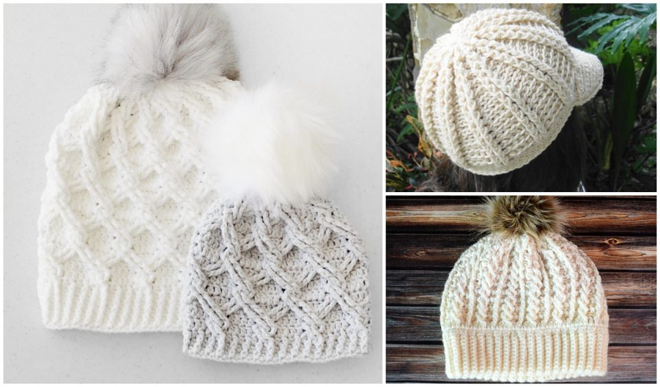 Cable hats Beanies