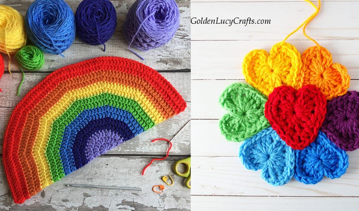 Easy Peasy Rainbow Window Decor Free Patterns