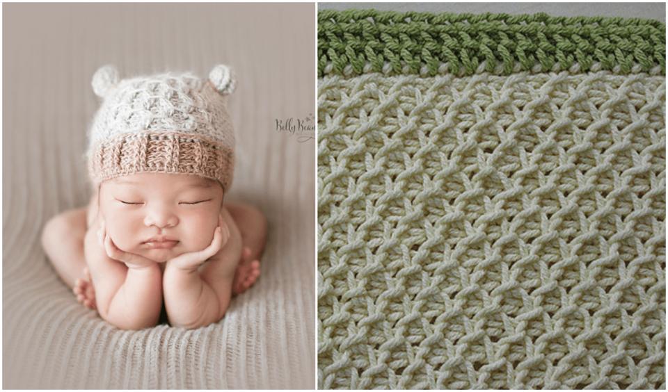 Smock Stitch Baby Blanket