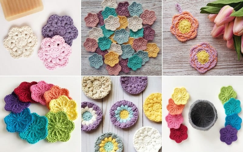 Floral Face Scrubbies Free Patterns