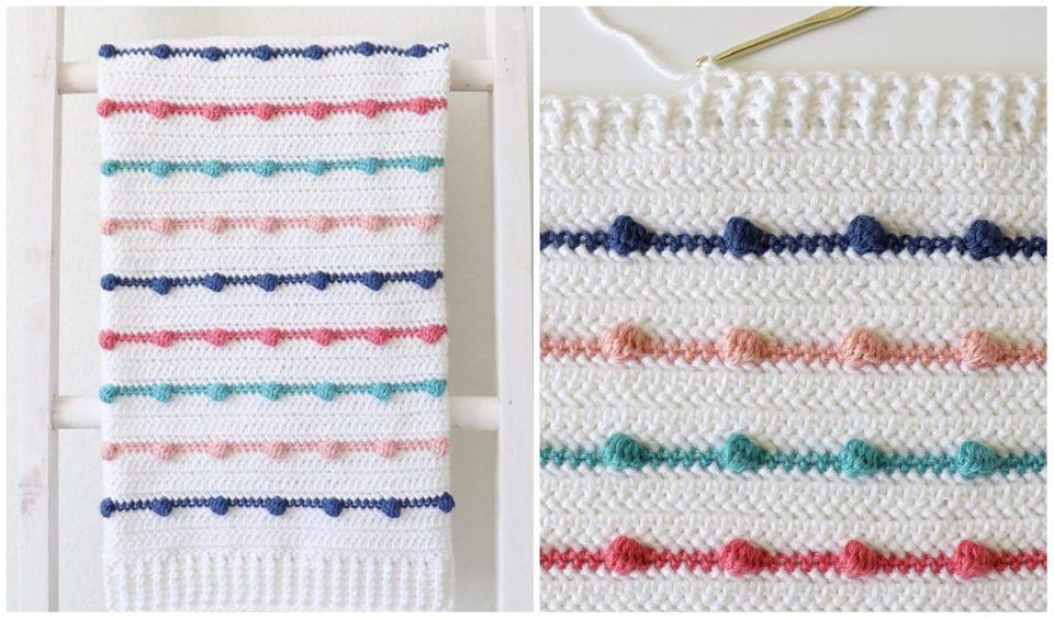 Bobble Lines Baby Blanket