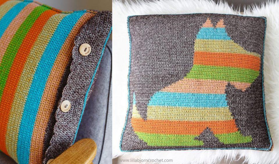 Every Puppy Needs A Home Crochet Pillow