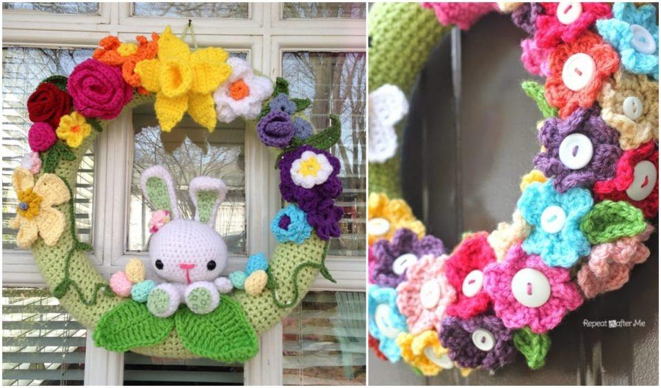 Spring Wreath Free Crochet Patterns