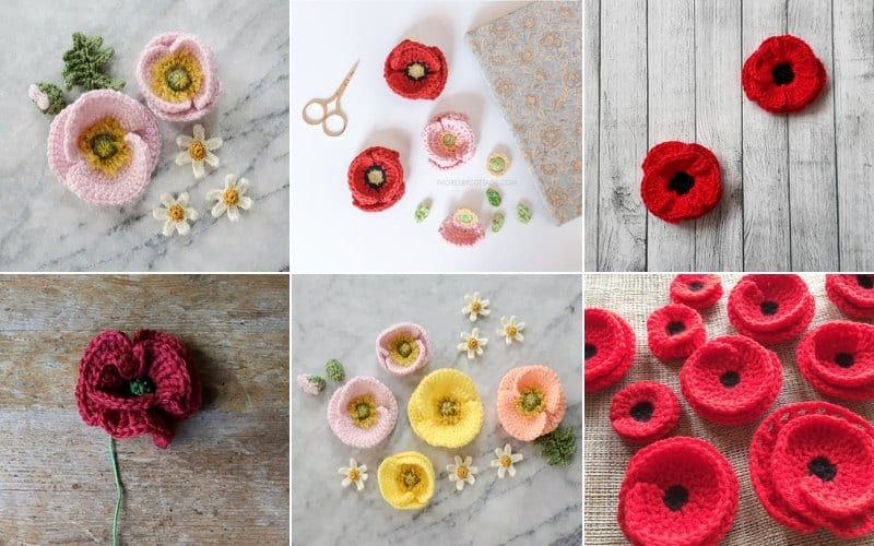Beautiful Crochet Poppies