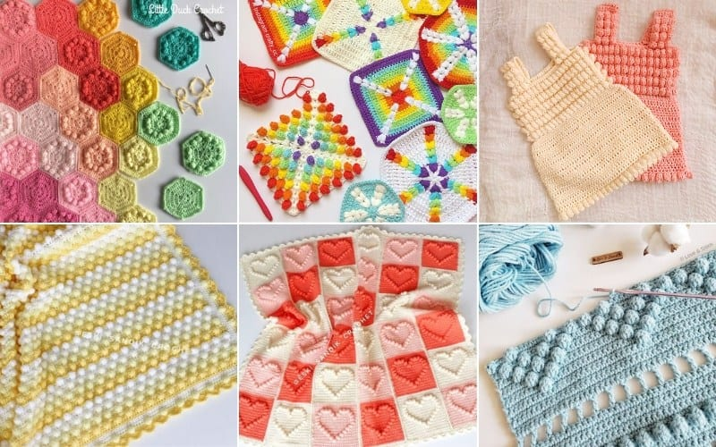 Popcorn Stitch Crochet Projects