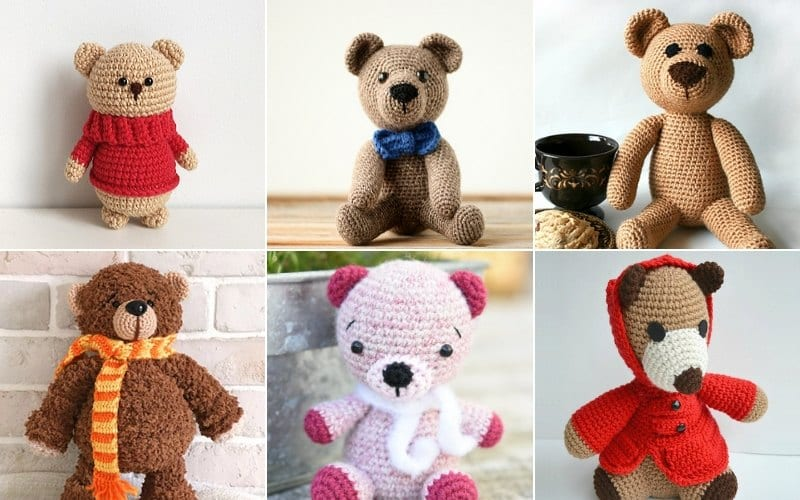 Sweet Crochet Teddy Bears