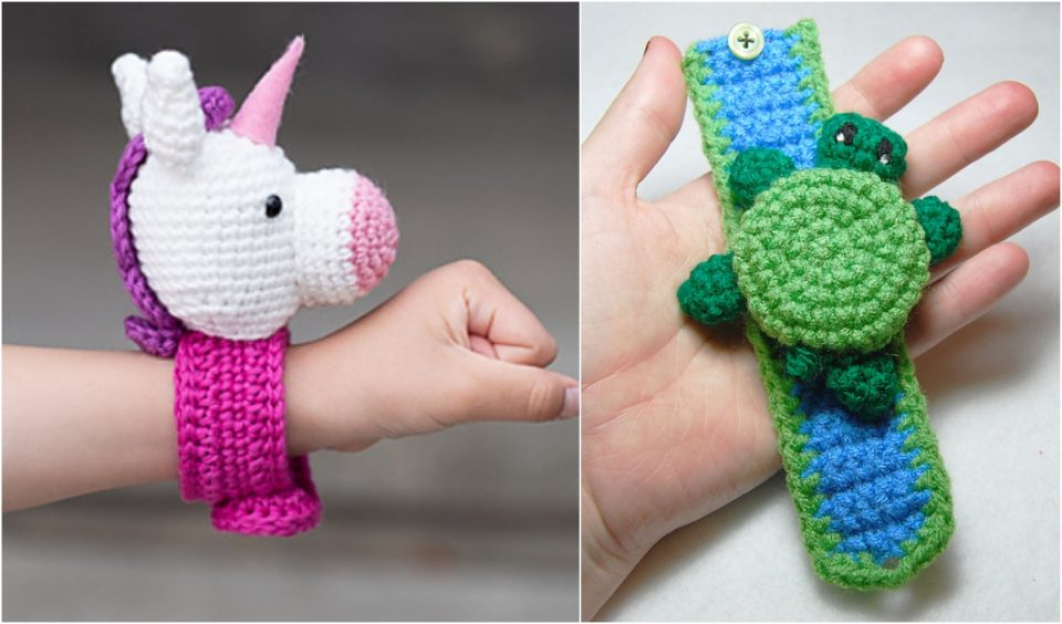 Crocheted Animal Bracelets