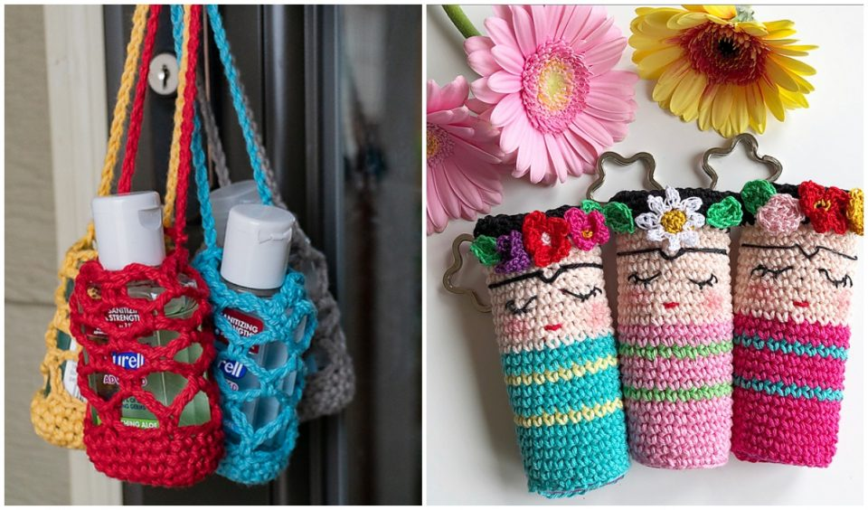 Crocheted Hand Sanitizer Cozy