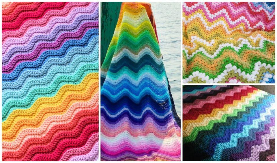 Rainbow Ripple Baby Blankets