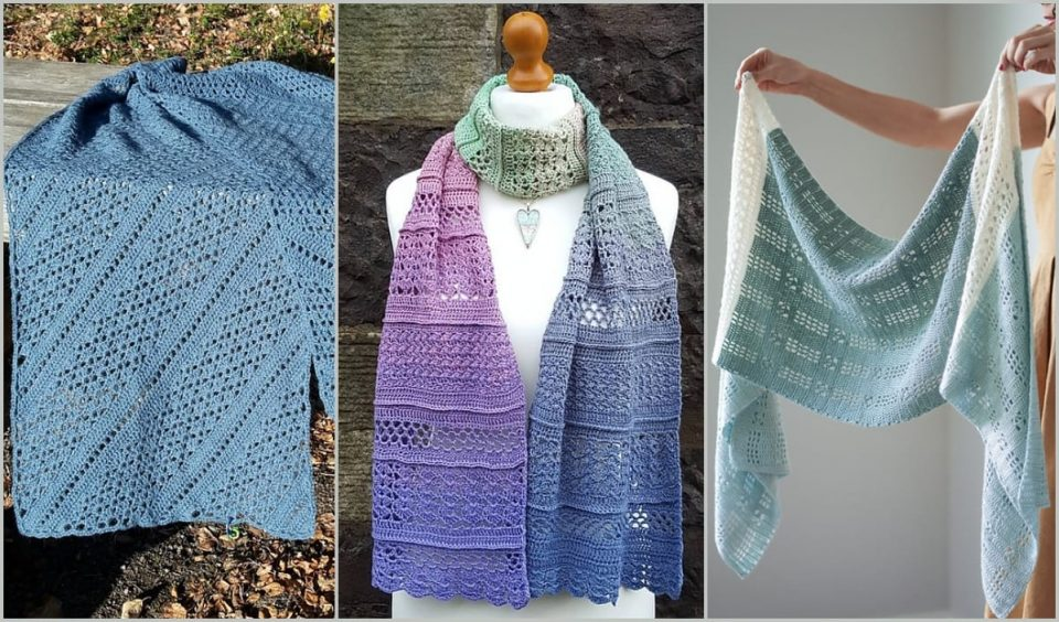 Spectacular Rectangle Shawl Free Crochet Patterns