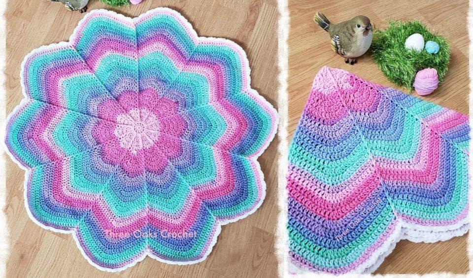 Spoke Flower Blanket