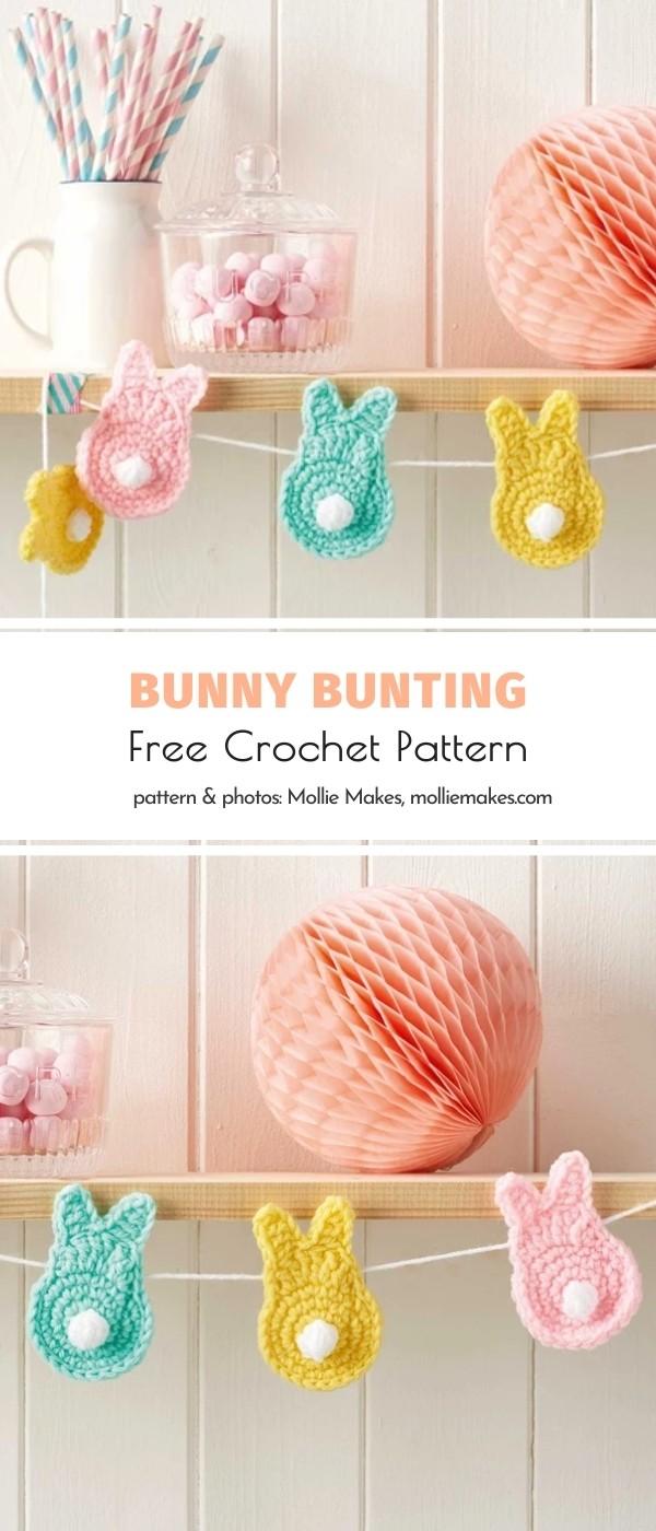 crochet bunny bunting