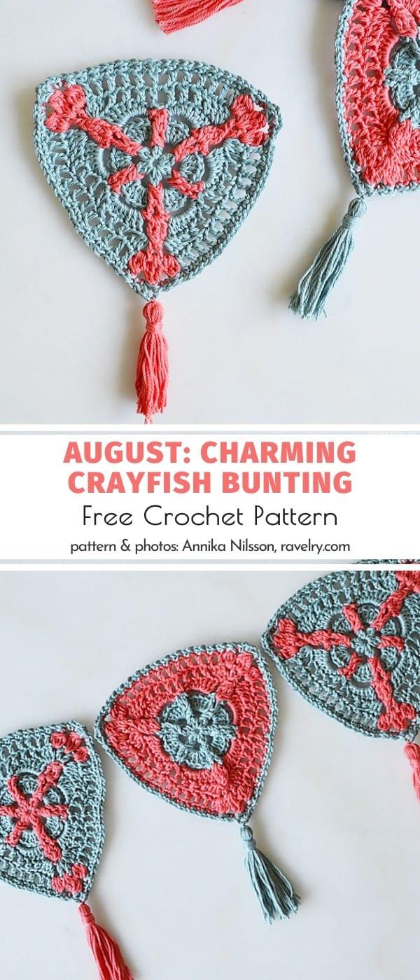 Crayfish Crochet Bunting