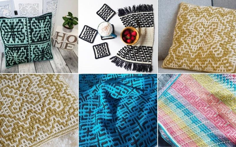 Mosaic Crochet Home Decor