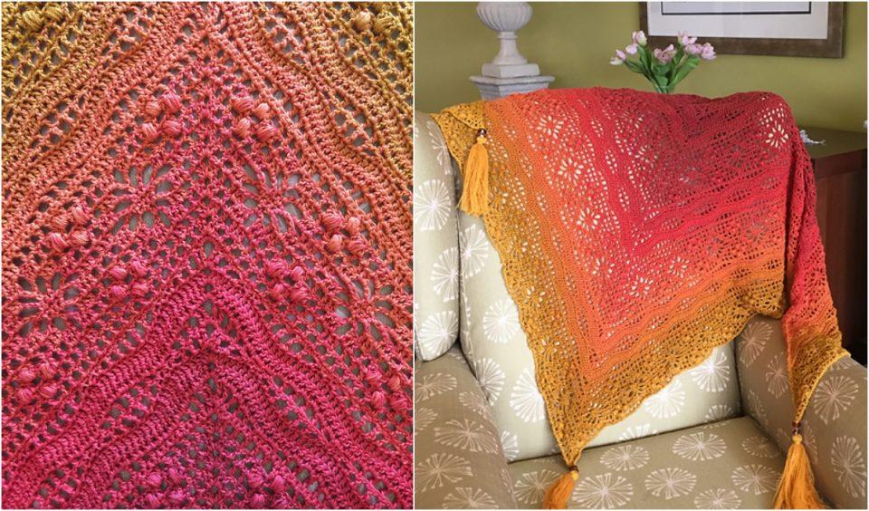 Daisy Chain Shawl Free Crochet Pattern