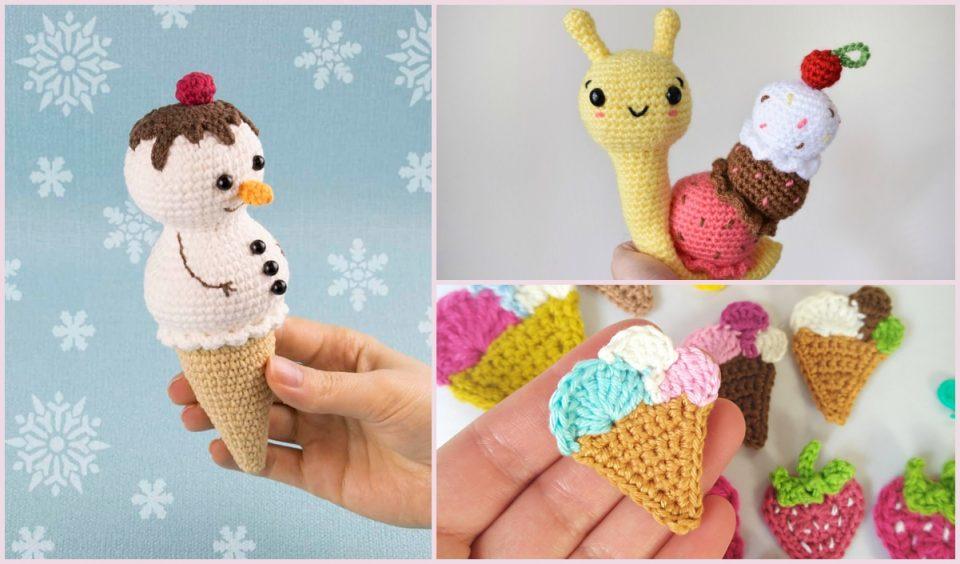 Ice cream amigurumi ideas