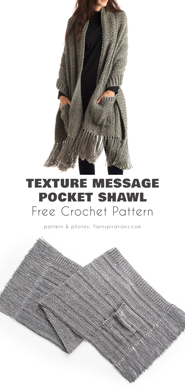 TEXTURE MESSAGE POCKET SHAWL