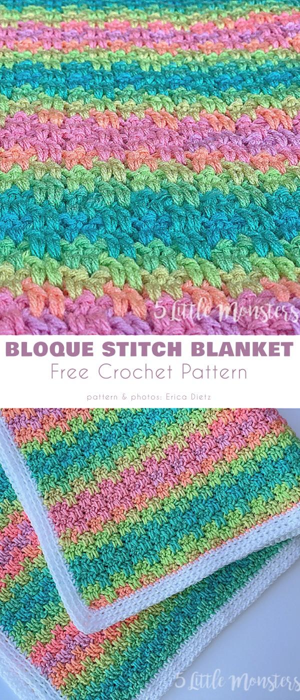 Bloque Stitch Blanket