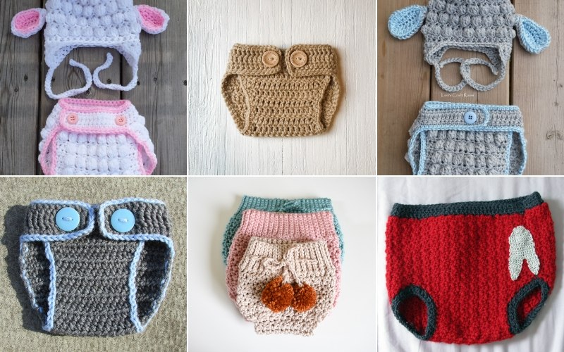 Cute Crochet Diaper Covers