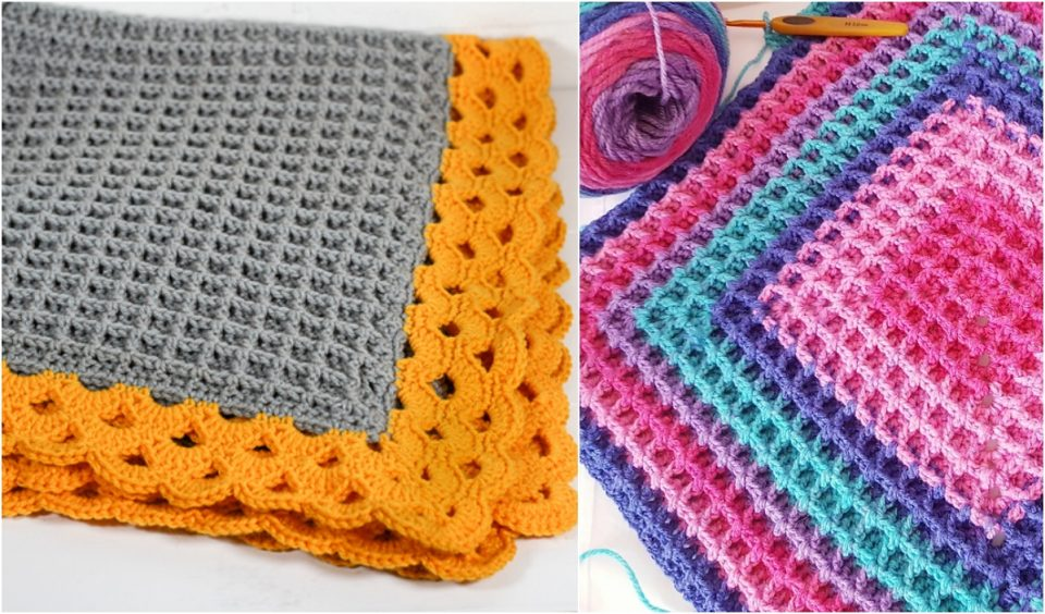 Waffle Blanket Free Patterns