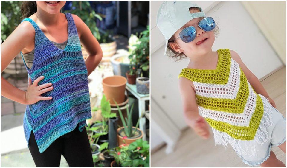 Girl Tank Top Free Crochet Patterns