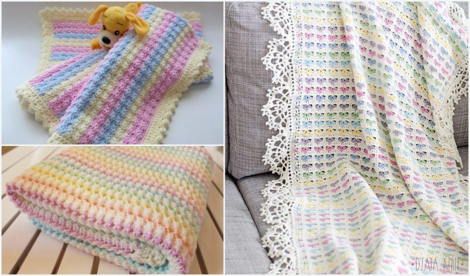 Pastel Baby Blanket Free Crochet Patterns