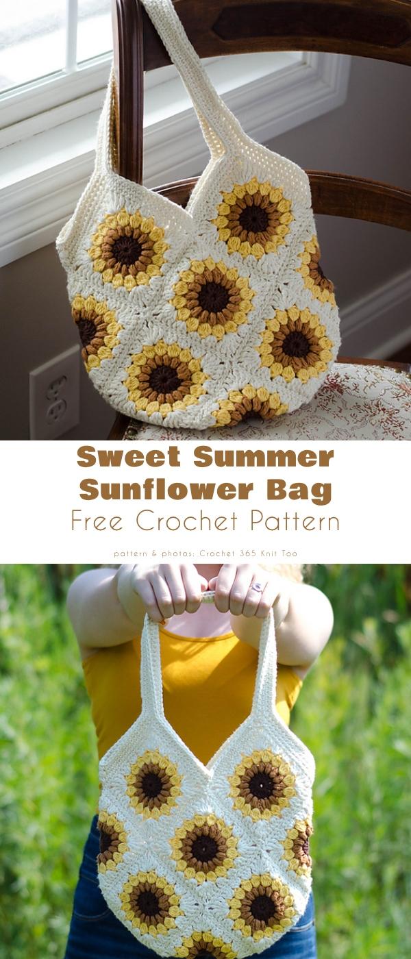Sweet Summer Sunflower Bag