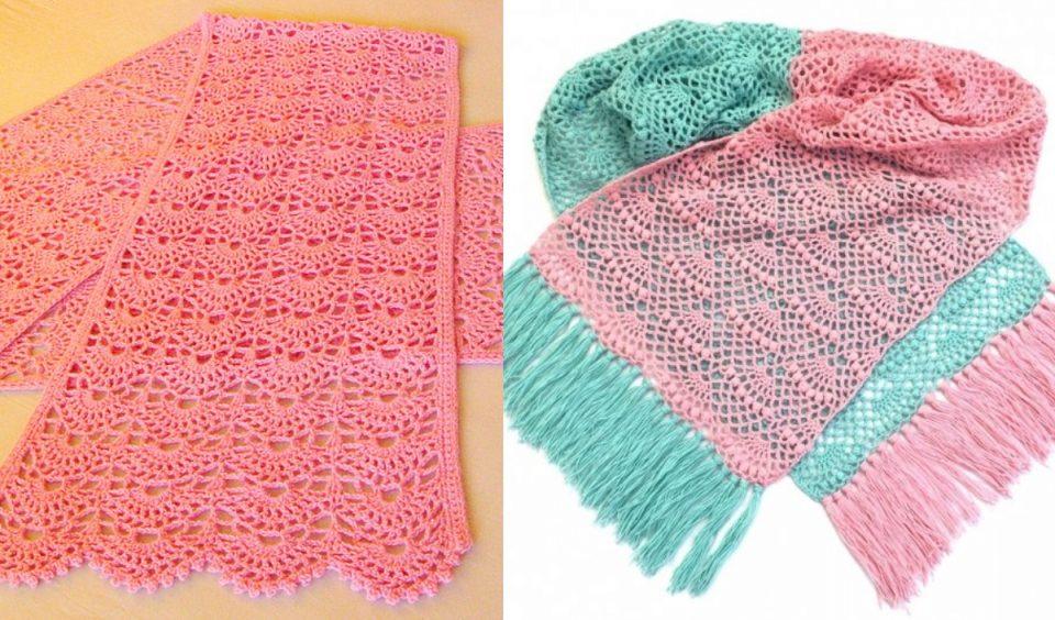 Sweet Rectangle Shawl Free Crochet Patterns