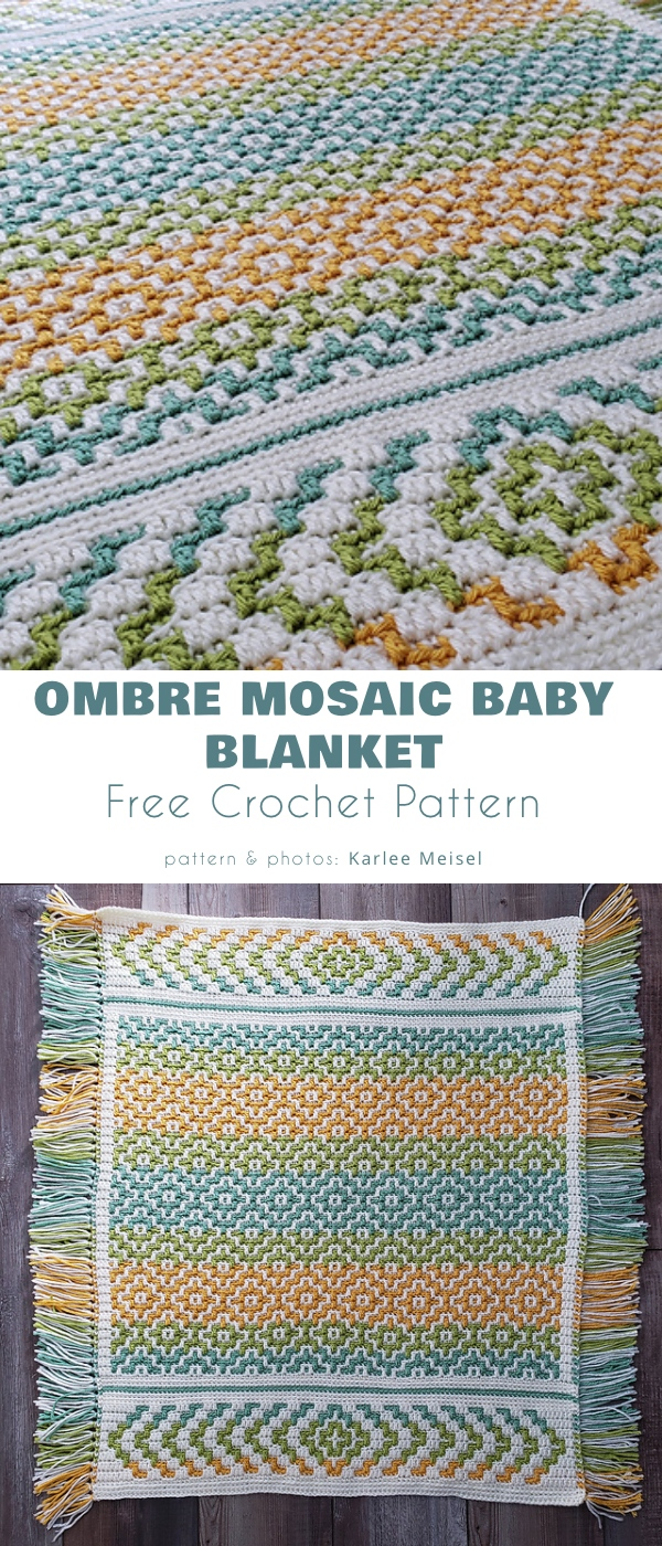 Ombre Mosaic Baby Blanket