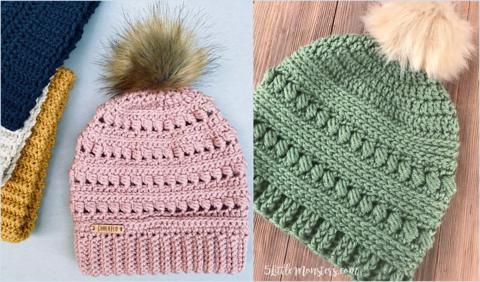 Bead Stitch Beanie Free Crochet Patterns