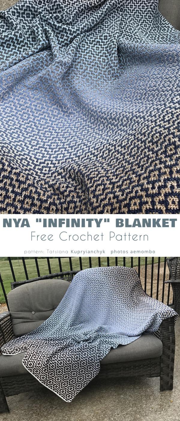 "Nya ""Infinity"" Mosaic Blanket"