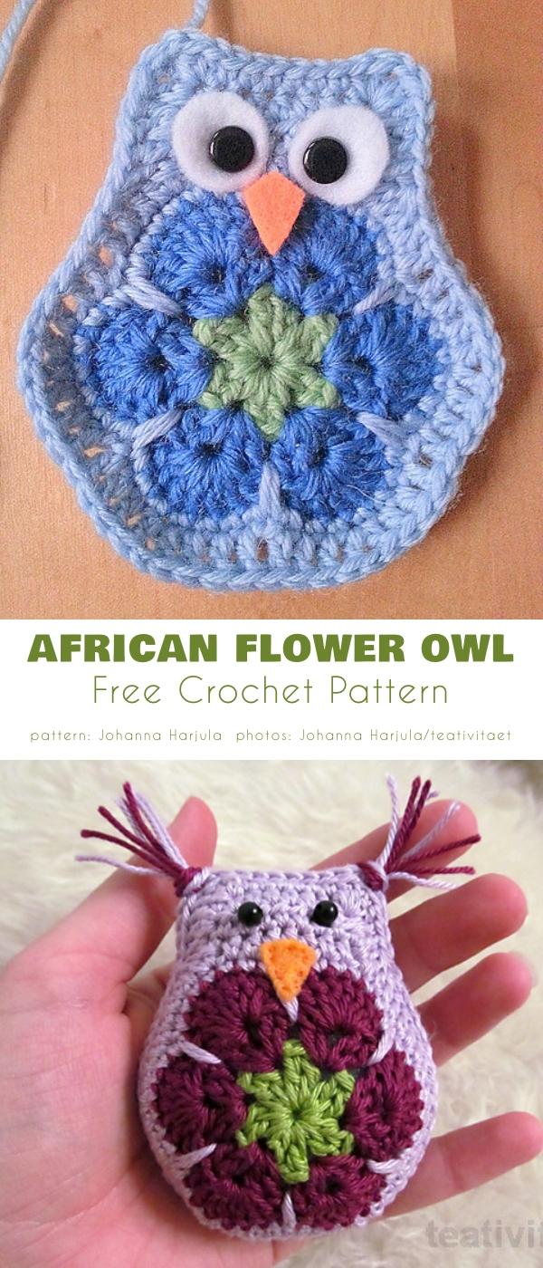 Owl African Flower