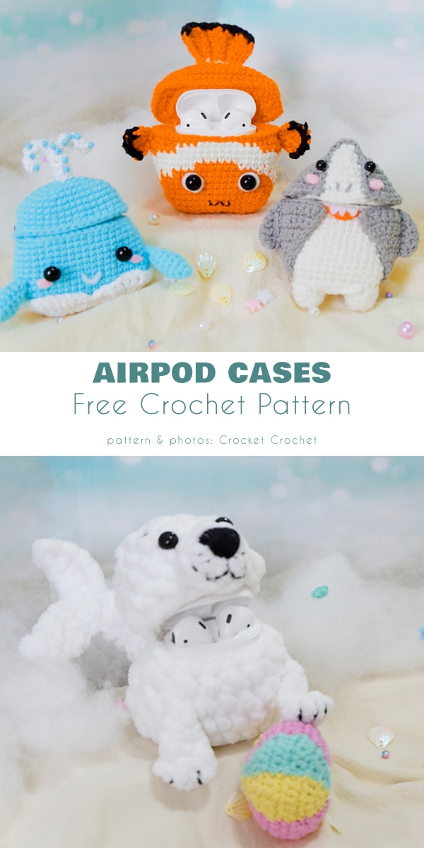 Airpod cases free crochet patterns