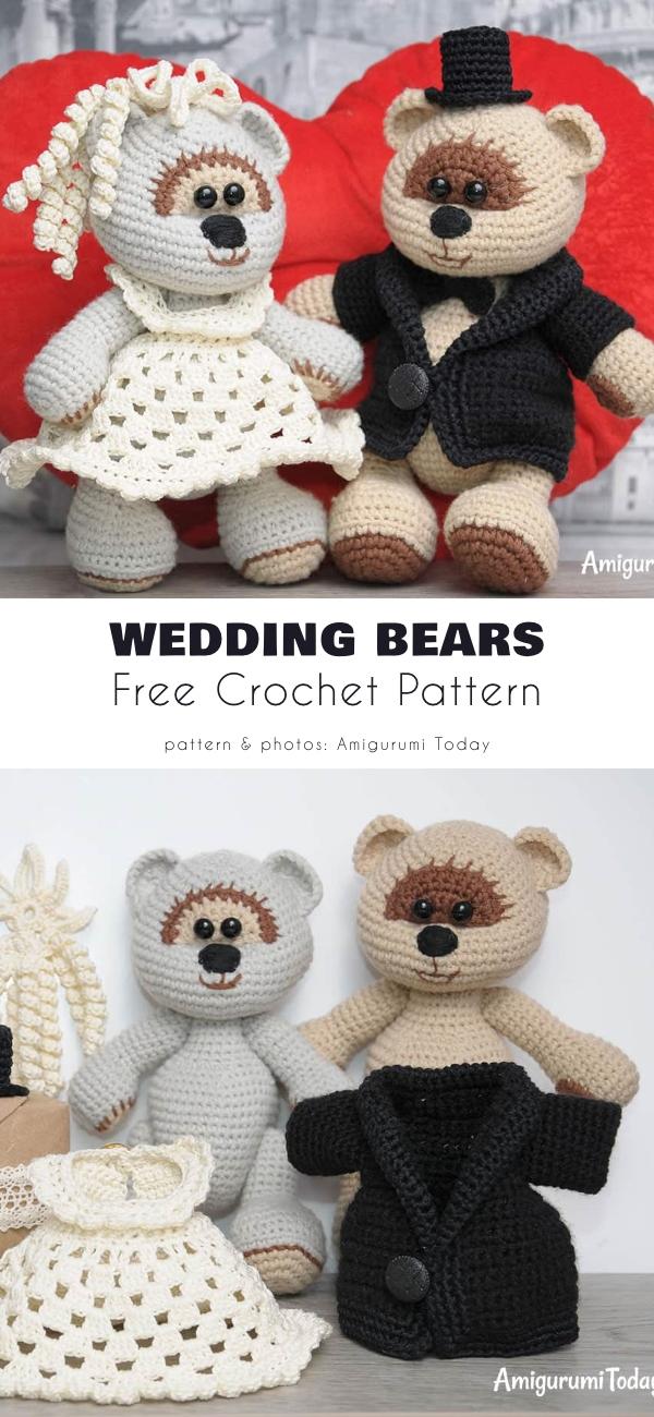 Wedding Bear Free Crochet Patterns