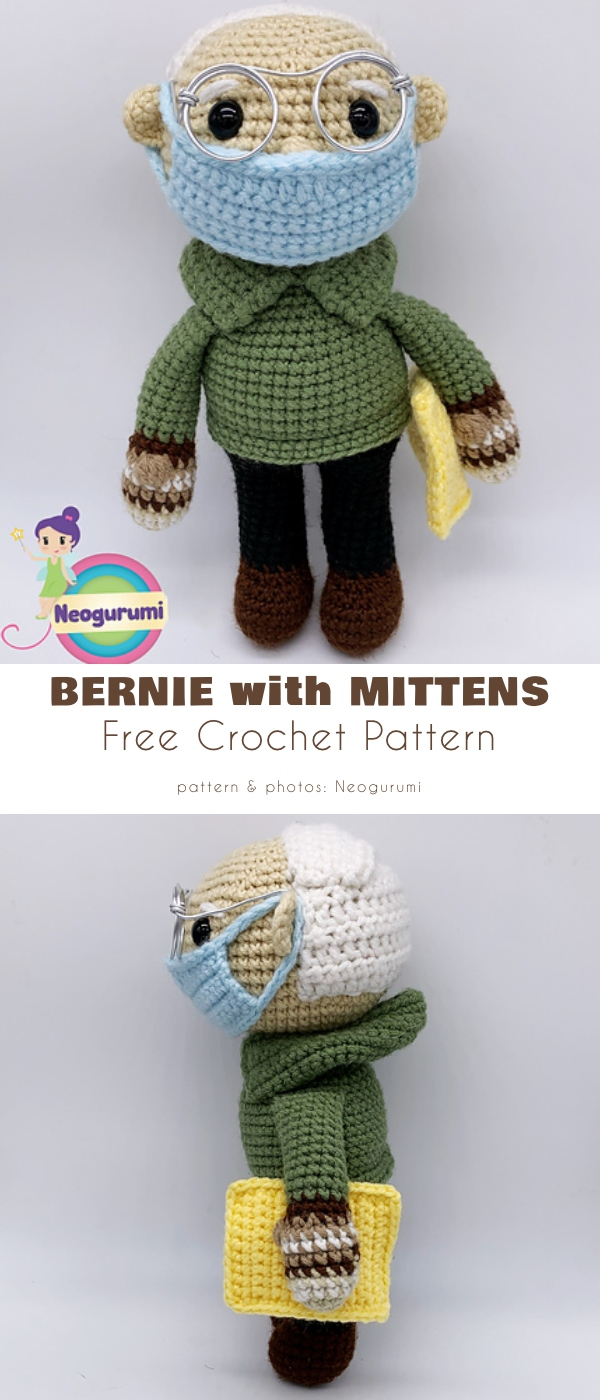 Bernie with Mittens