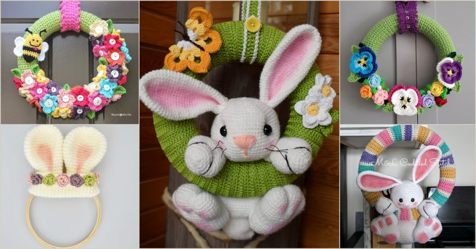 Spring and Easter Wreath Free Crochet Patterns