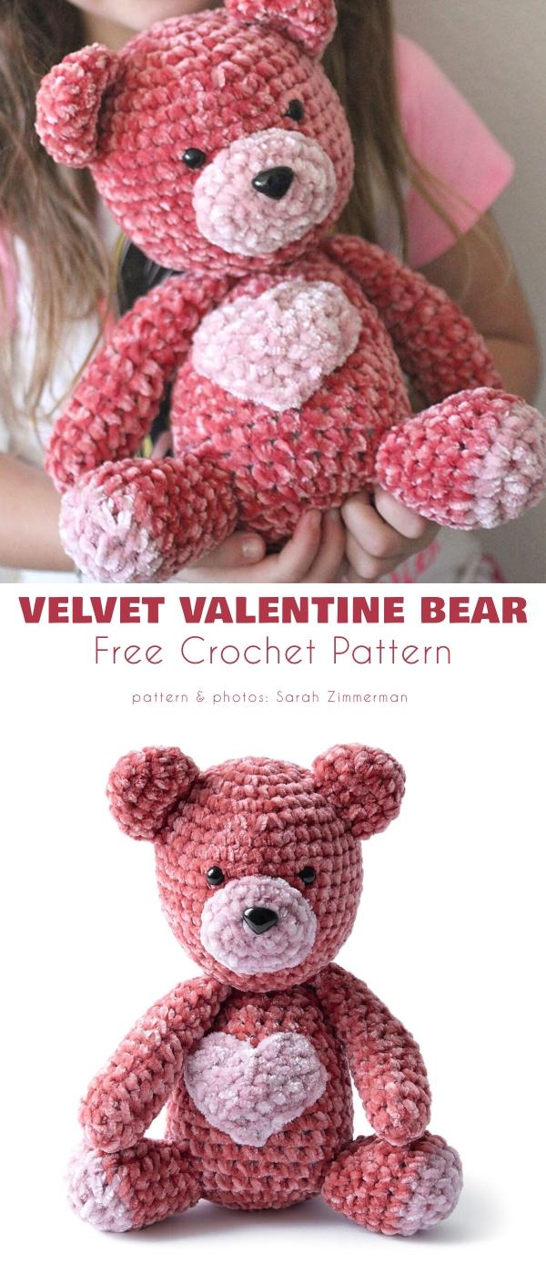 Velvet Valentine Bear