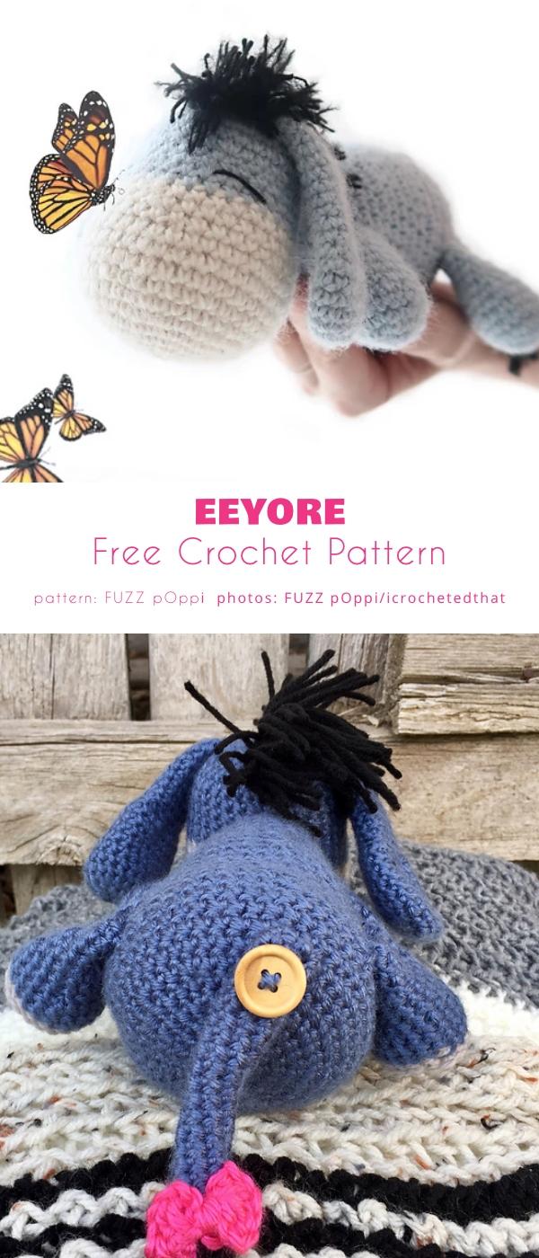 Eeyore Free Crochet Pattern