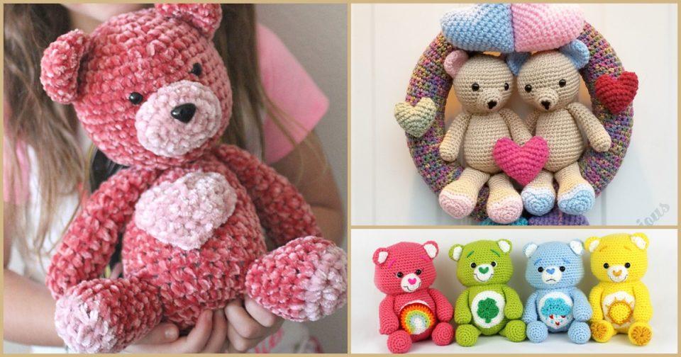 Valentine Teddy Bear Free Crochet Patterns