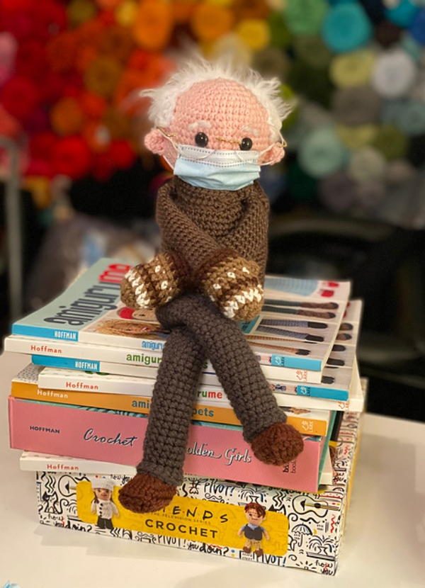 Bernie Sanders in Mittens Shelf-sitter Doll