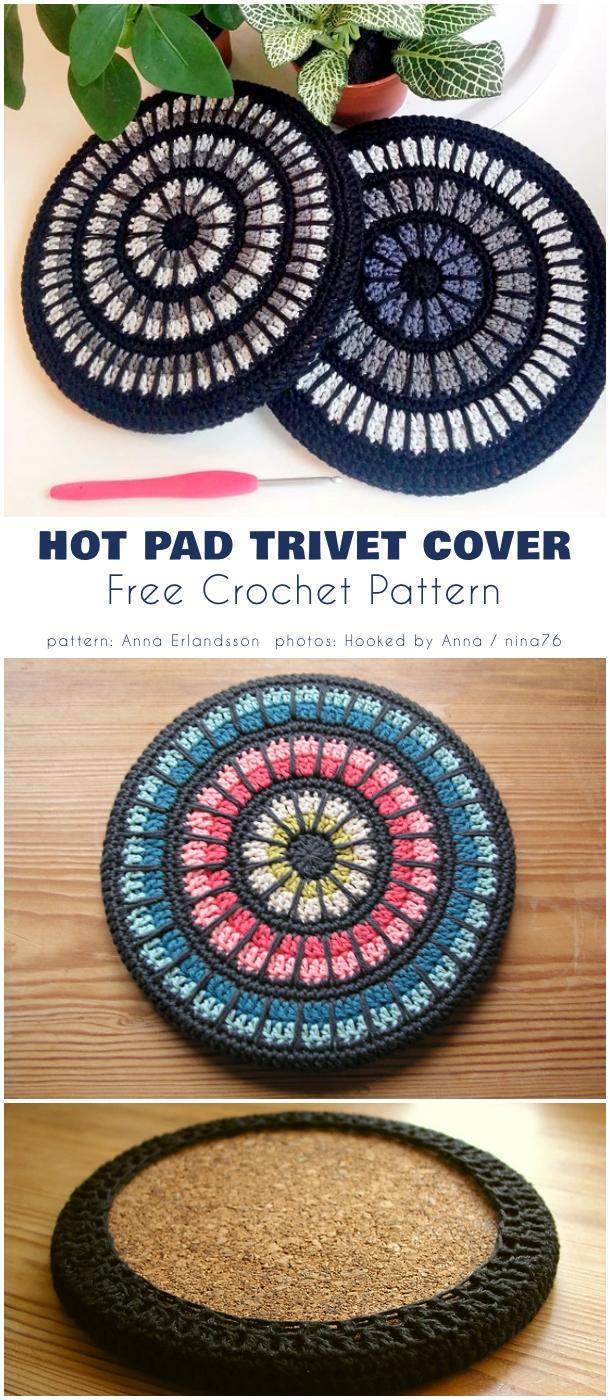 Mandala Hot Pad Trivet Cover