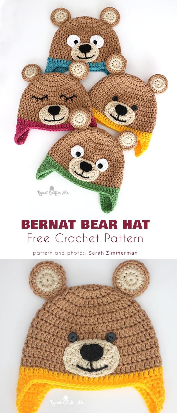 Bernat Bear Hat