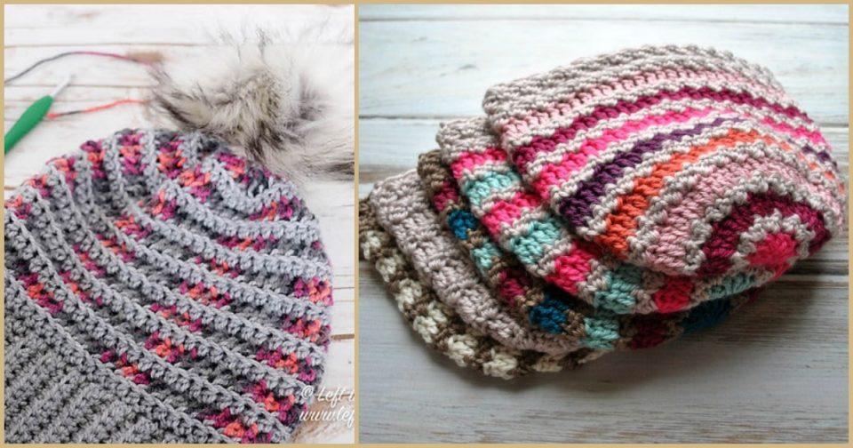 Striped Beanie Free Crochet Patterns
